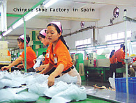 Chinese shoe factory in Spain