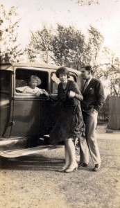 Adam's grandparents, Guy and Catherine Newmarch, with his mother Anne, in Tientsin in the early 1930s