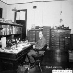 Leonard Newmarch in his office at the China Railways, Tientsin - Reproduced from the P.A. Crush Chinese Railway Collection and with the kind permission of the grandchildren of Claude William Kinder C.M.G.