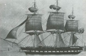 "Figure 7: The ""Chapman"" on which the Biddulphs sailed to South Africa"