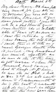 Page 1 of letter written by Julia Newmarch