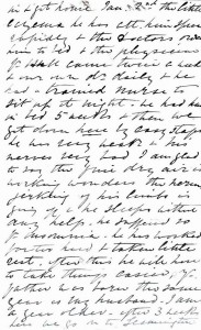 Page 2 of letter written by Julia Newmarch