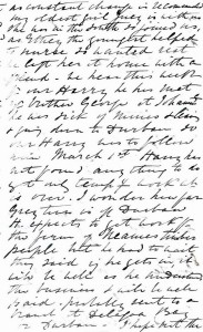 Page 3 of letter written by Julia Newmarch