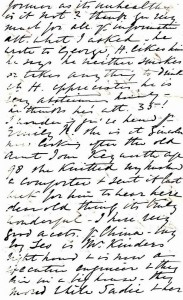 Page 4 of letter written by Julia Newmarch