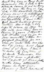 Page 5 of letter written by Julia Newmarch