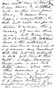 Page 6 of letter written by Julia Newmarch