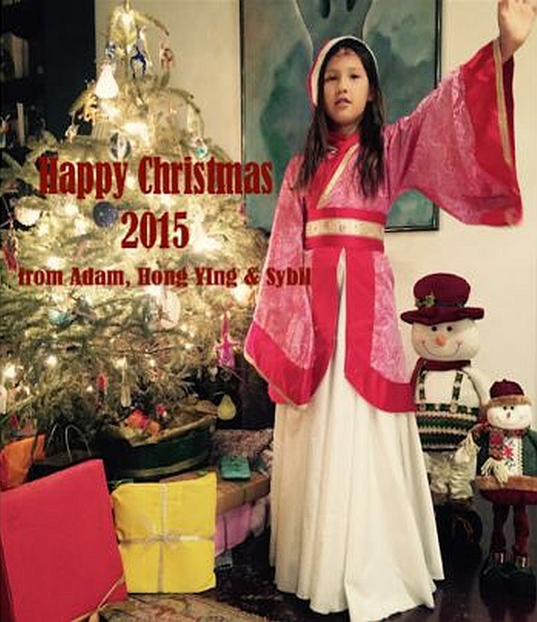 Happy Christmas 2015 from Adam, Hong Ying and Sybil
