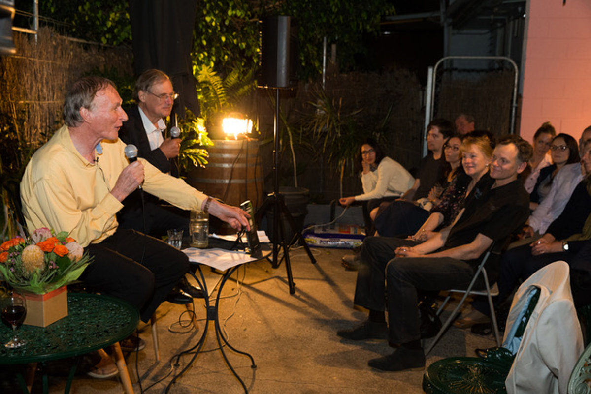 Laurence Browne and Adam Williams at The Many Faces of Coincidence book launch