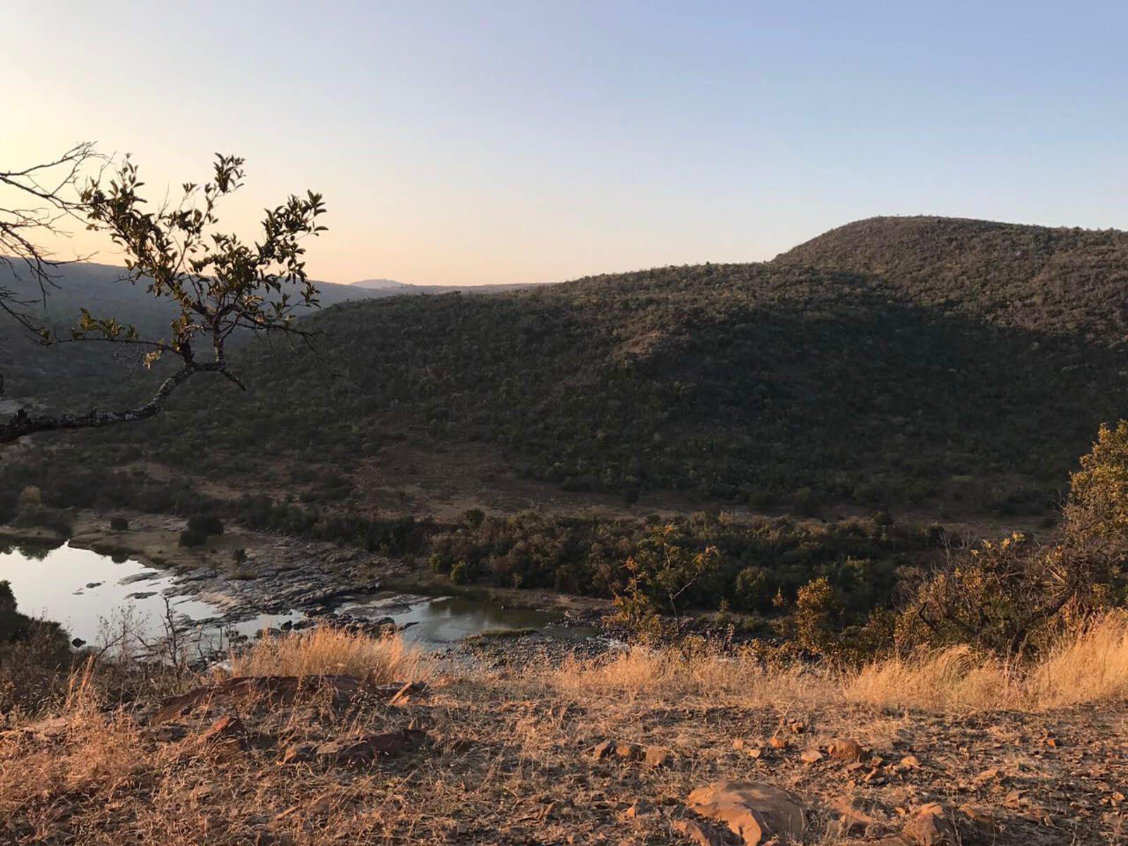Fugitives' Drift - the only escape route from Isandhlwana, though only 55 survivors of the battle managed to cross to safety