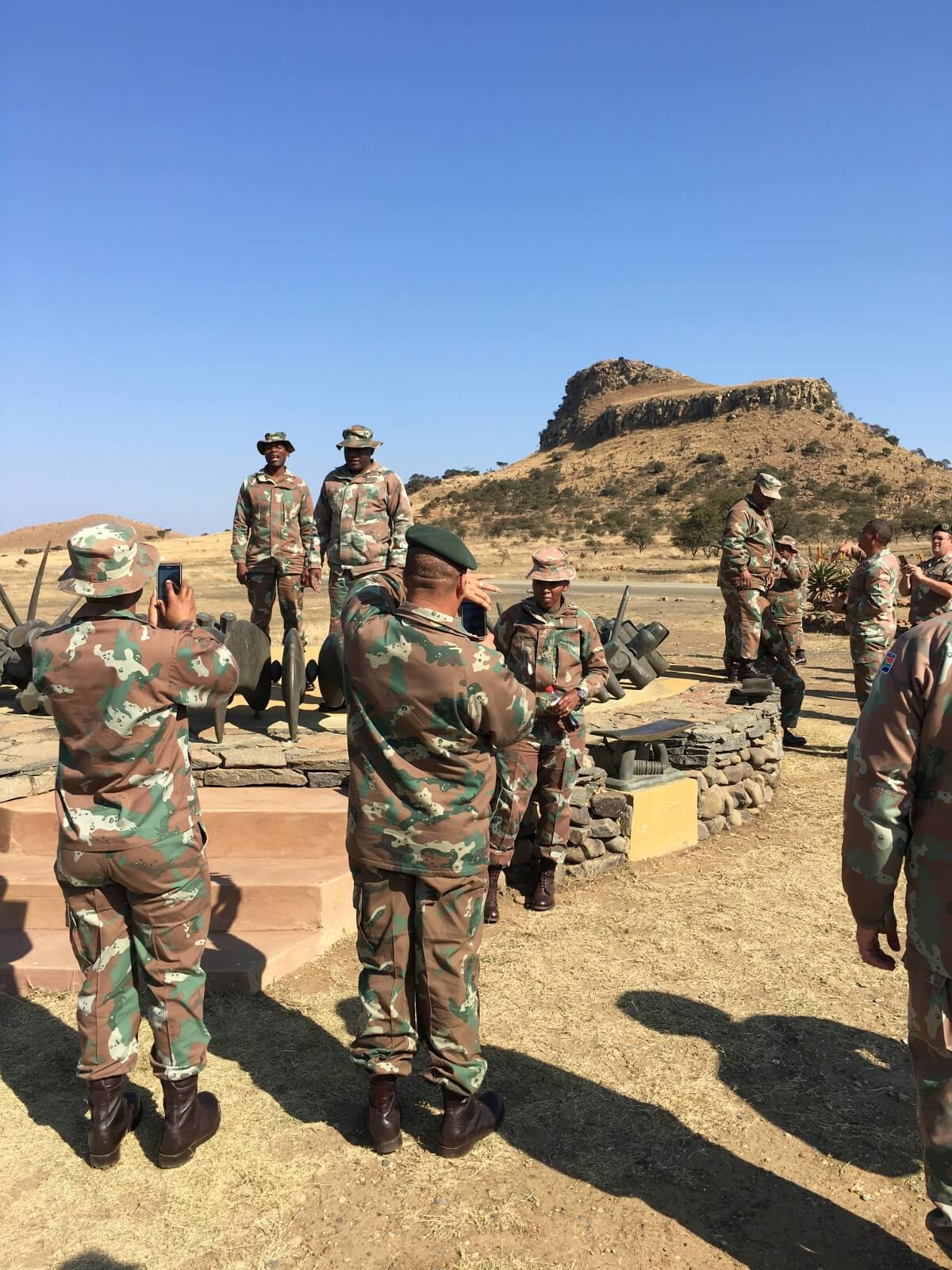 Modern soldiers pay respects at memorial to Zulu slain at Isandhlwana