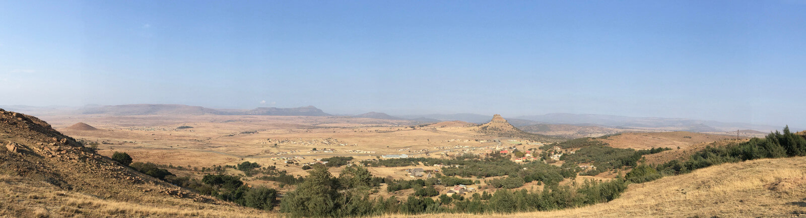 The Isandhlwana battleground as seen by the Zulu high command on Inyoni Hill